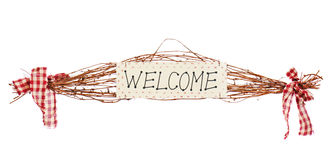 Welcome sign isolated on white background Stock Images