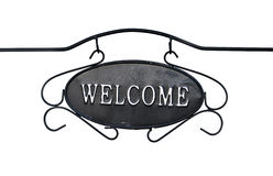 Welcome sign isolated on white. Stock Images