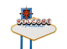 Welcome Sign Isolation royalty free stock photos