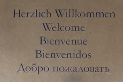 Welcome sign in many languages Royalty Free Stock Photography