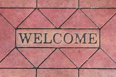 Welcome sign mat Royalty Free Stock Images