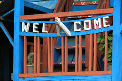 Welcome sign, Nepal Royalty Free Stock Photo