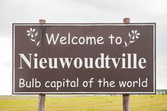 Welcome sign at Niewoudtville Royalty Free Stock Images