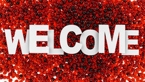 Welcome sign over colorful background. 3d illustration. Welcome sign over colorful background Royalty Free Stock Photo