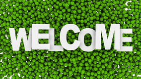 Welcome sign over colorful background. 3d illustration. Welcome sign over colorful background Royalty Free Stock Image