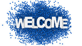 Welcome sign over colorful background. 3d illustration. Welcome sign over colorful background Stock Image
