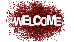 Welcome sign over colorful background. 3d illustration. Welcome sign over colorful background Stock Photos