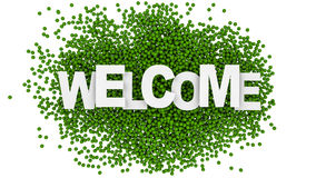 Welcome sign over colorful background. 3d illustration. Welcome sign over colorful background Royalty Free Stock Photos