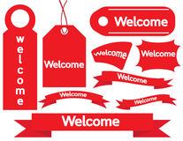 Welcome Sign Paper Tags Stock Image