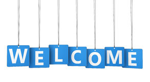 Welcome Sign Paper Tags Stock Photography