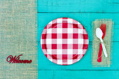 Welcome sign with picnic concept Royalty Free Stock Images
