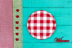 Welcome sign with picnic concept Stock Images