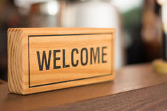 Welcome sign. Welcome sign in the shop, business concept royalty free stock photography