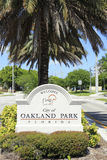 Welcome Sign to City of Oakland Park, FL Royalty Free Stock Images
