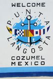 Welcome Sign To Cozumel Mexico Stock Images