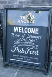 Welcome sign to an English Pub - London England  UK Royalty Free Stock Photo