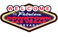 Welcome sign. Welcome to Fabulous downtown Las Vegas Nevada sign Royalty Free Stock Photography