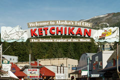 Welcome sign to Ketchikan Alaska Royalty Free Stock Image