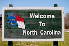 Welcome Sign to North Carolina Royalty Free Stock Photos