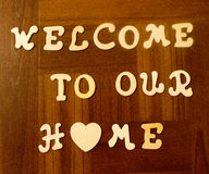 Welcome Sign. Welcome to our home Sign Royalty Free Stock Photo