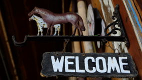 Welcome sign Stock Images