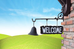 Welcome Sign on wall Royalty Free Stock Photo