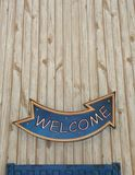 Welcome sign. A wlcome sign on the wall Royalty Free Stock Image