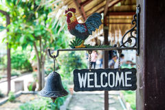 Welcome sign on the wood Royalty Free Stock Photo
