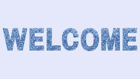 Welcome sign word hello