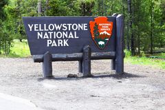 Yellowstone National Park Welcome Sign royalty free stock photos