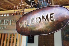 Welcome signage Royalty Free Stock Photography