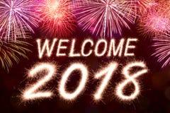 Welcome 2018 Sparkle firework Royalty Free Stock Photos