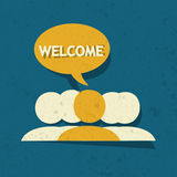Welcome Speech Bubble Stock Photos