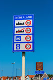 Welcome and speed limit signs in Hoek van Holland Netherlands Royalty Free Stock Photo