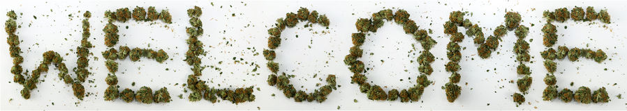 Welcome Spelled With Marijuana Royalty Free Stock Images