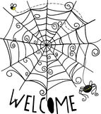 Welcome Spider Web Stock Images