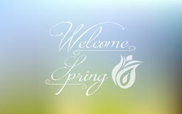 Welcome spring Royalty Free Stock Images