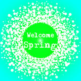 Welcome Spring Lettering typography card Stock Photo