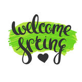 Welcome spring poster Royalty Free Stock Image