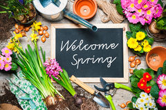 Welcome spring sign Royalty Free Stock Photography