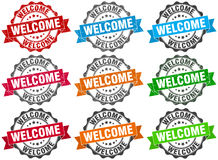 Welcome stamp. sign. seal. Welcome stamp set. sign. seal Stock Photo