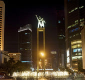 Welcome statue in Jakarta royalty free stock photography