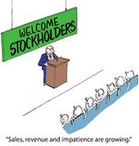 Welcome Stockholders Royalty Free Stock Photography