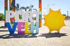 Welcome structure at the entrance of the city of Porto Velho wit Royalty Free Stock Images