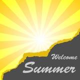 Welcome summer Stock Photos
