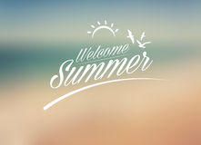 Welcome Summer blured background Royalty Free Stock Photos