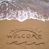 Welcome summer holidays Royalty Free Stock Photos