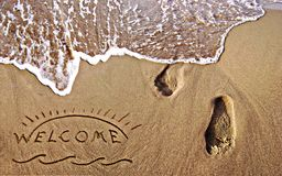 Welcome summer holidays. Stock Images