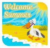 Welcome Summer Sign Royalty Free Stock Images