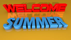Welcome summer Stock Image